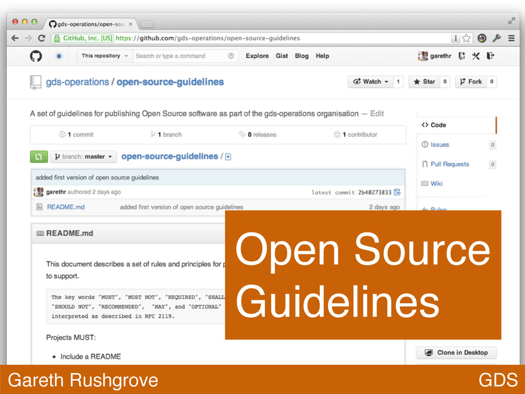 GDS Gareth Rushgrove Open Source Guidelines
