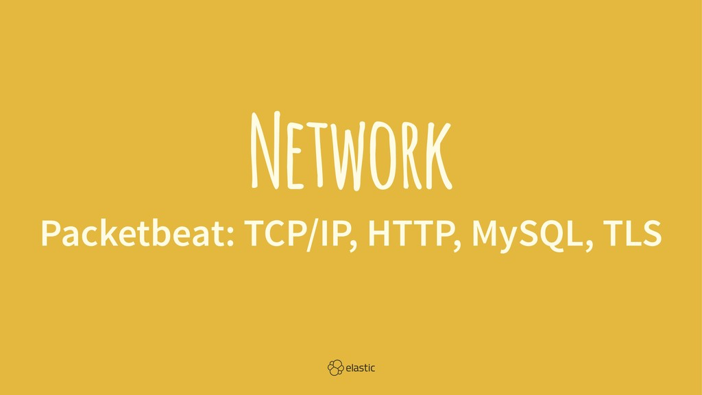 Network Packetbeat: TCP/IP, HTTP, MySQL, TLS