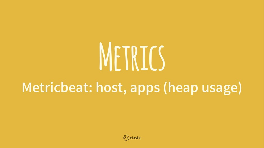 Metrics Metricbeat: host, apps (heap usage)