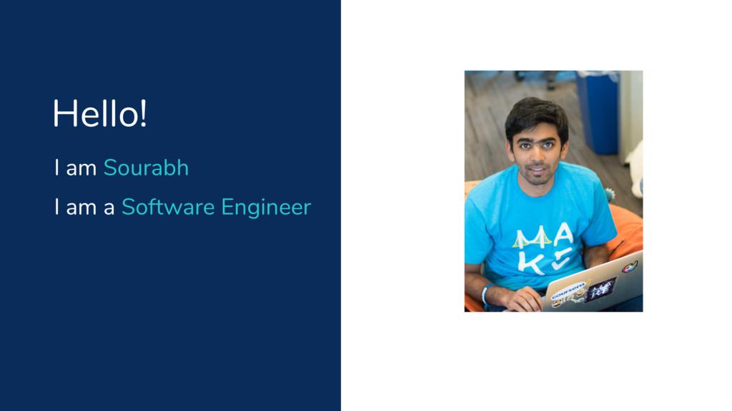 I am Sourabh Hello! I am a Software Engineer