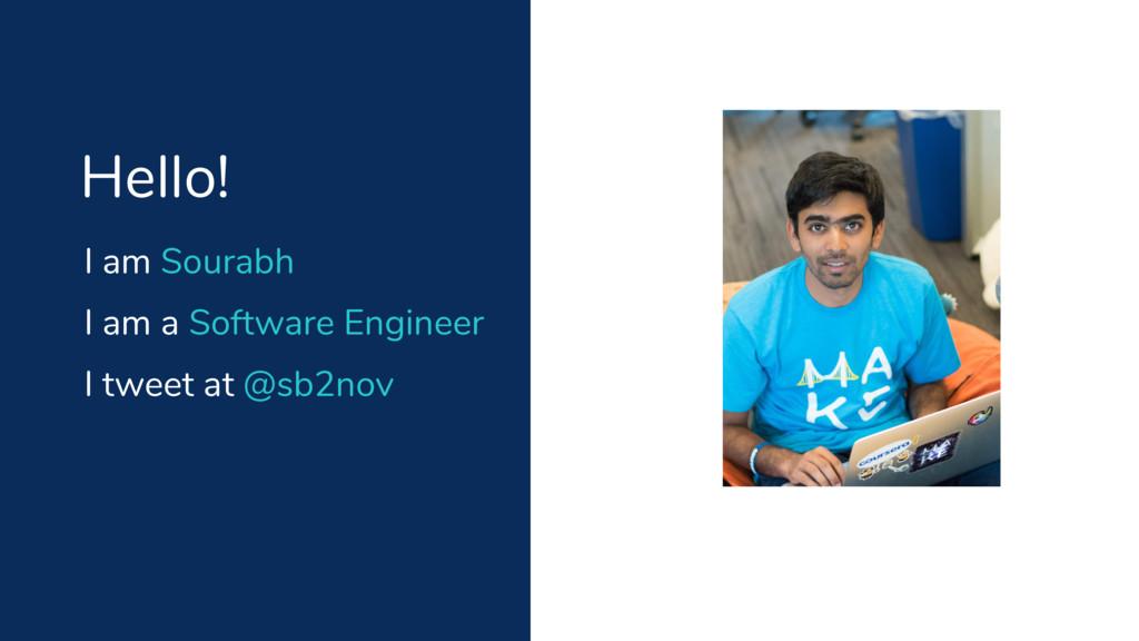 I am Sourabh Hello! I am a Software Engineer I ...