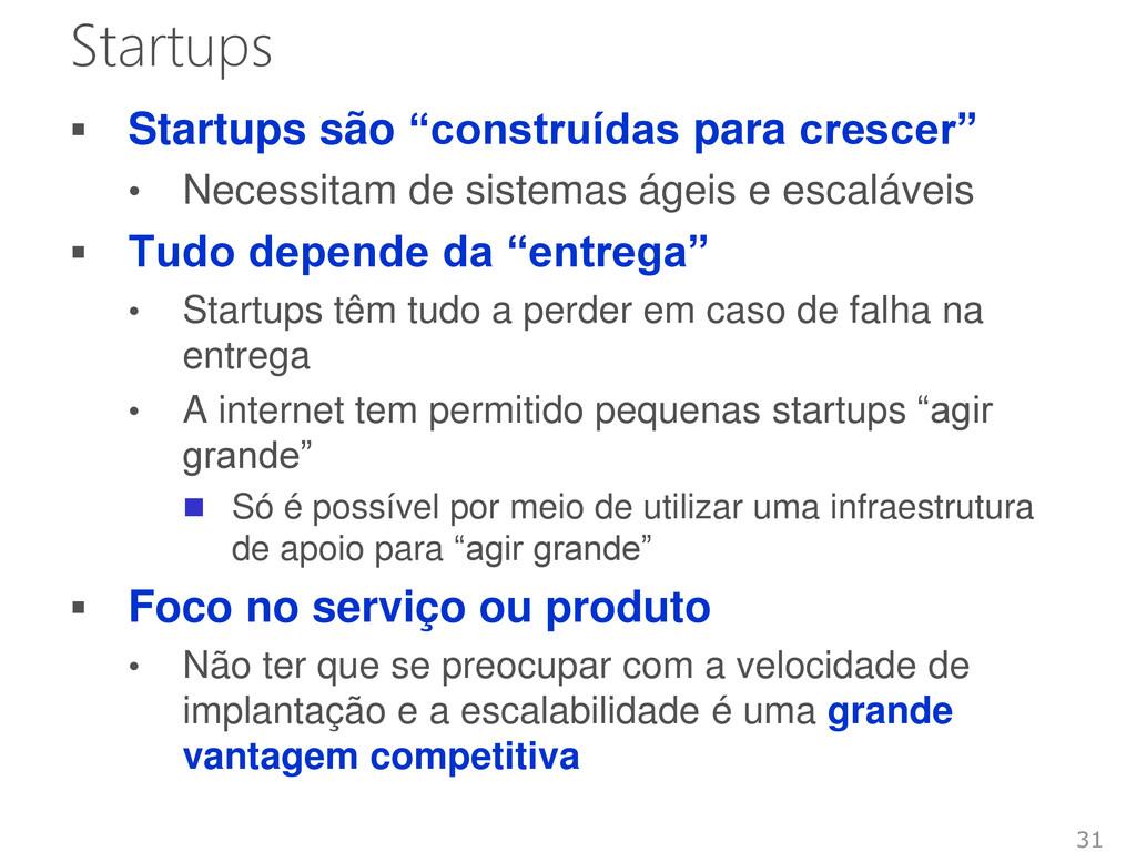 """Startups  Startups são """"construídas para cresc..."""