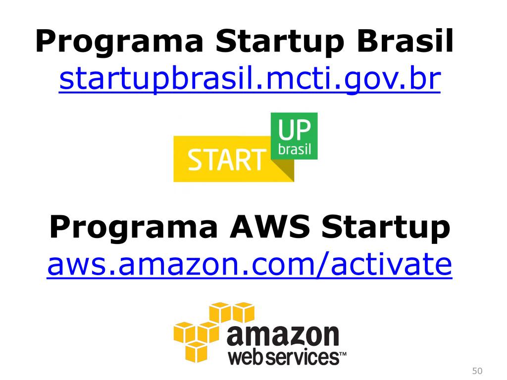 50 Programa Startup Brasil startupbrasil.mcti.g...