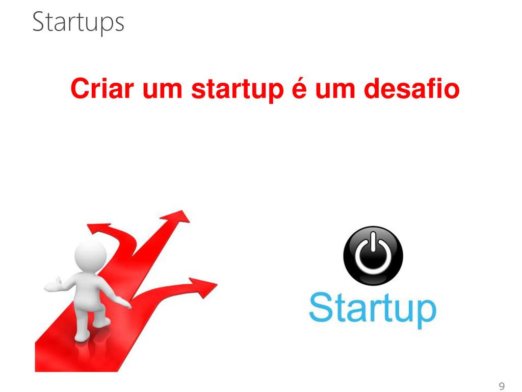 Startups 9 Criar um startup é um desafio