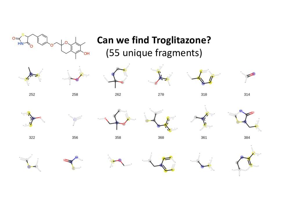 O HN O S O O OH Can we find Troglitazone? (55 u...