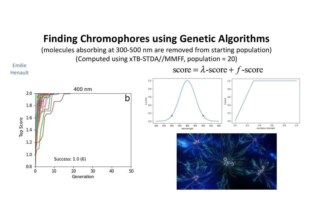 Finding Chromophores using Genetic Algorithms (...