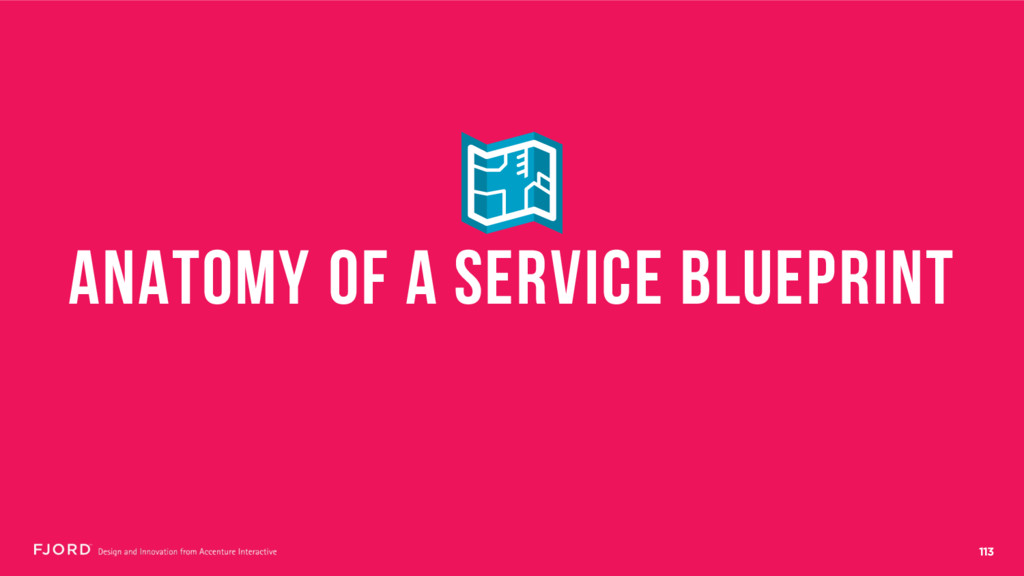 113 ANATOMY OF A SERVICE BLUEPRINT