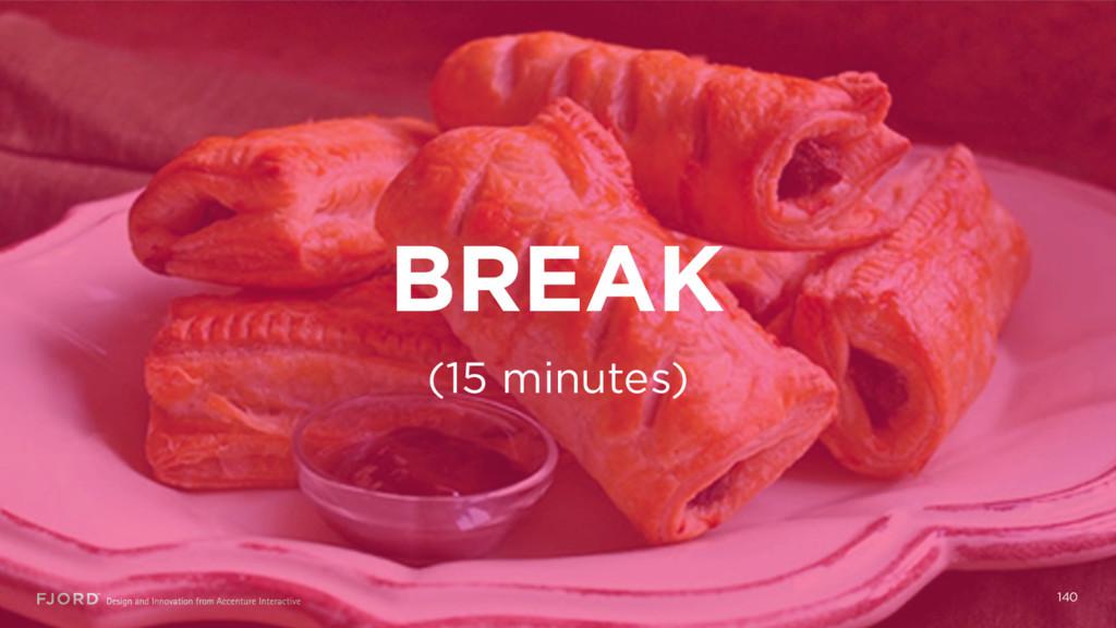BREAK 140 (15 minutes)