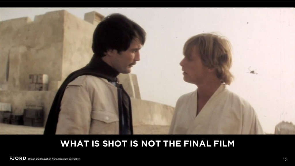 15 WHAT IS SHOT IS NOT THE FINAL FILM