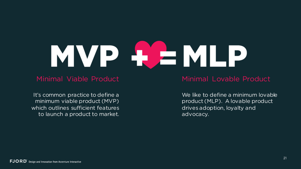 21 MVP Minimal Viable Product It's common pract...