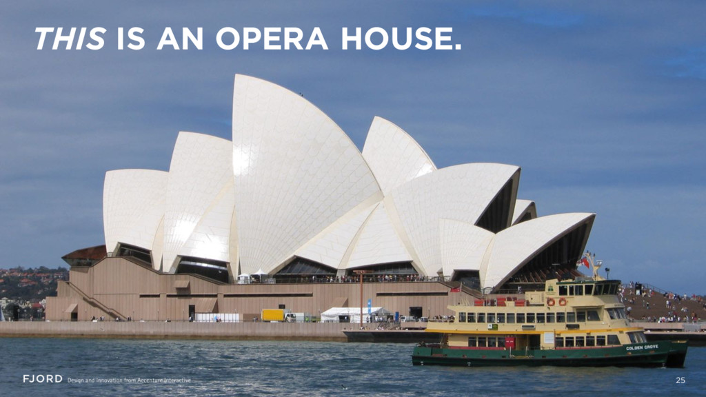 25 THIS IS AN OPERA HOUSE.