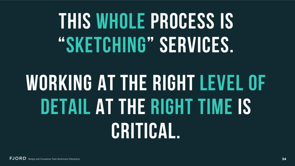 "34 This whole process is ""sketching"" services. ..."