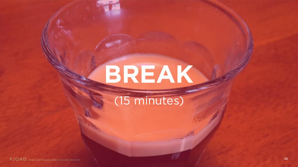 BREAK 48 (15 minutes)
