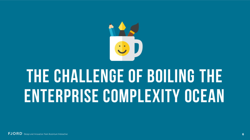 THE CHALLENGE OF BOILING THE ENTERPRISE COMPLEX...