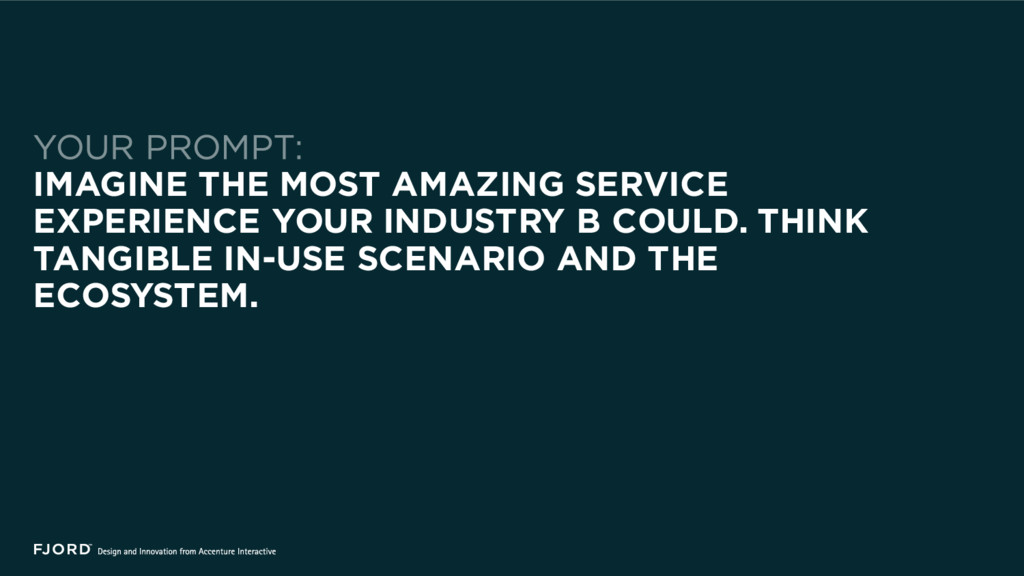 IMAGINE THE MOST AMAZING SERVICE EXPERIENCE YOU...