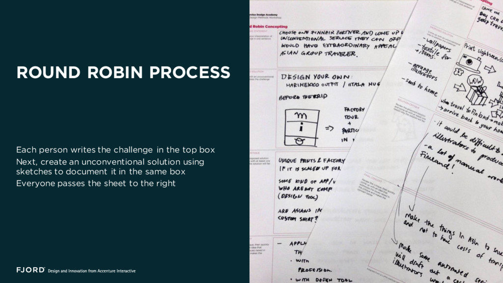 ROUND ROBIN PROCESS Each person writes the chal...