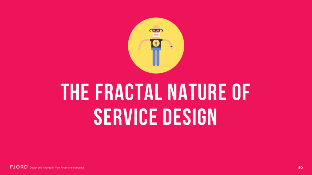 80 THE FRACTAL NATURE OF SERVICE DESIGN