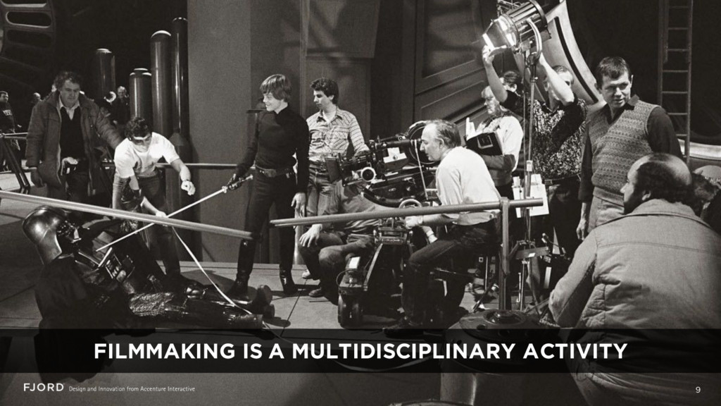 9 FILMMAKING IS A MULTIDISCIPLINARY ACTIVITY