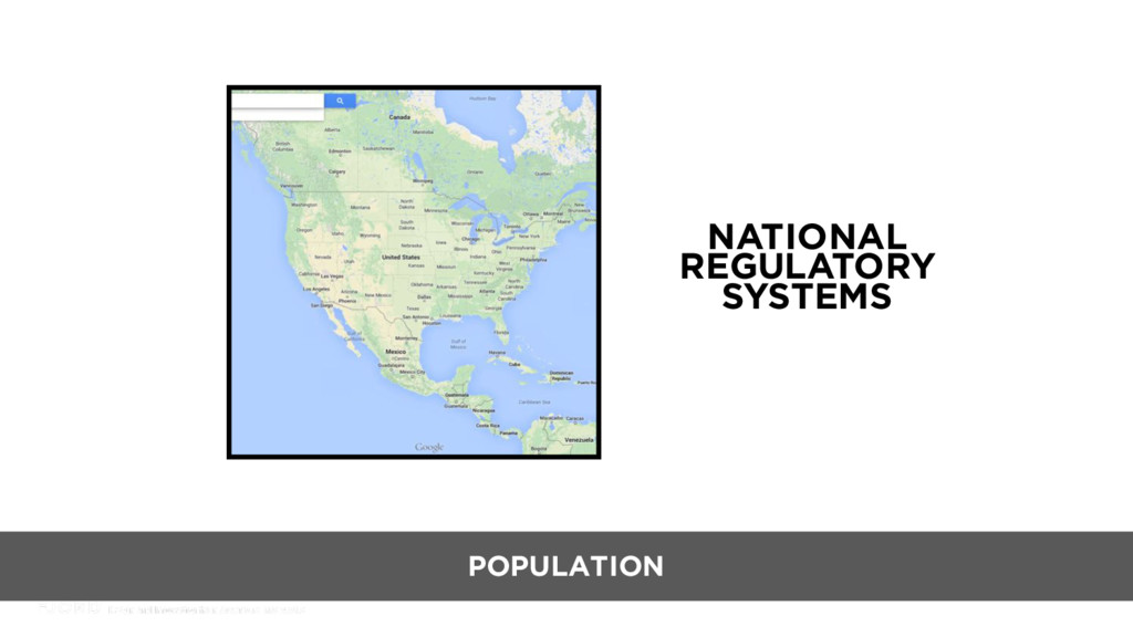 NATIONAL REGULATORY SYSTEMS POPULATION