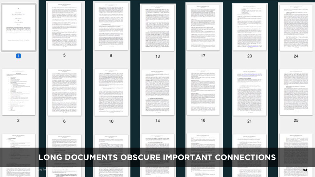 LONG DOCUMENTS OBSCURE IMPORTANT CONNECTIONS 94