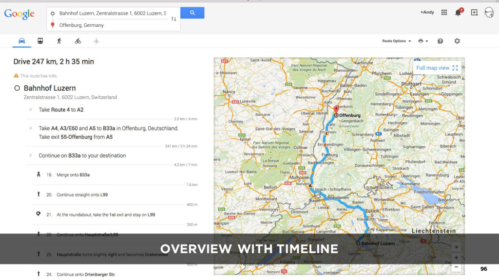 OVERVIEW WITH TIMELINE 96