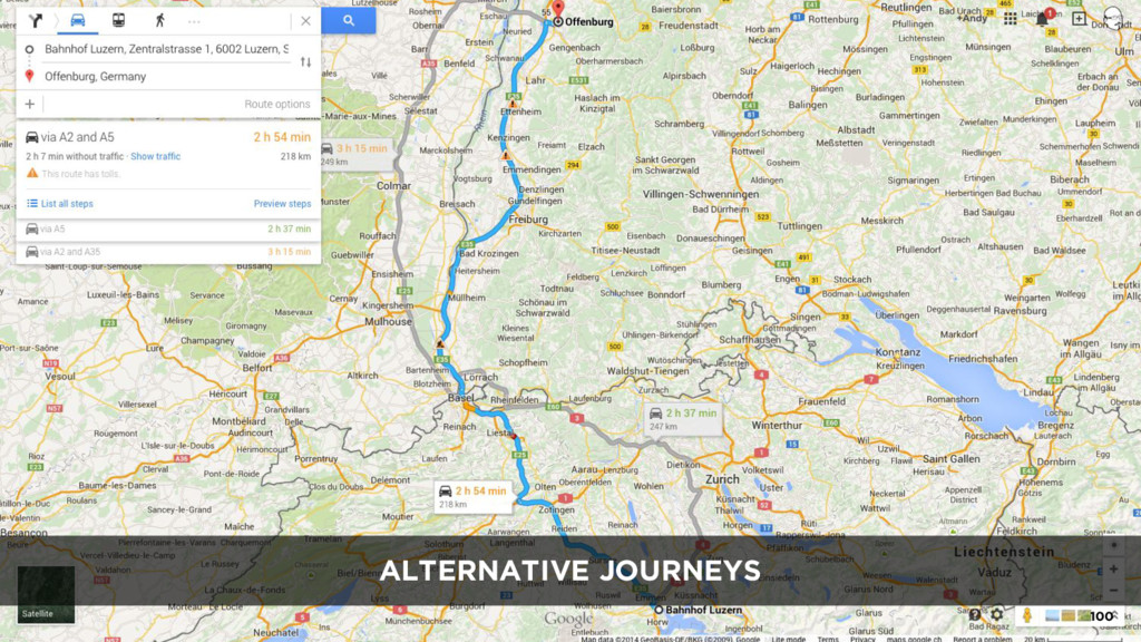 ALTERNATIVE JOURNEYS 100