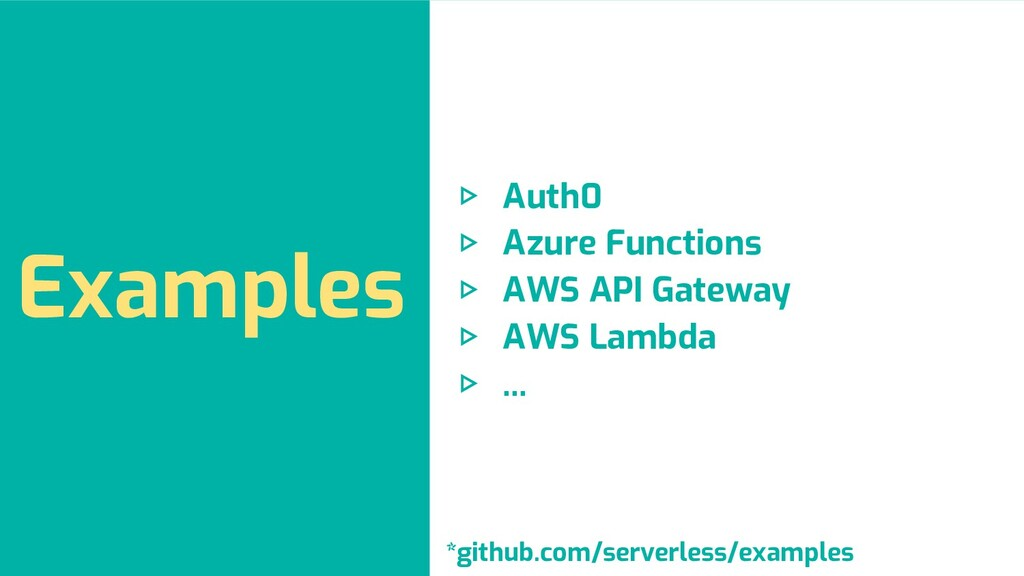 Examples ▷ Auth0 ▷ Azure Functions ▷ AWS API Ga...