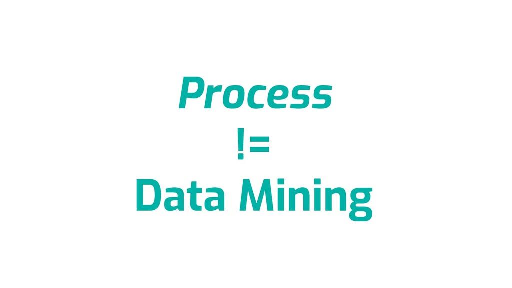Process != Data Mining