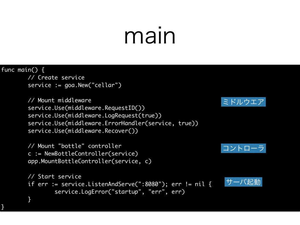 NBJO func main() { // Create service service :=...