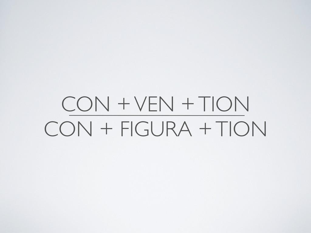 CON + VEN + TION CON + FIGURA + TION
