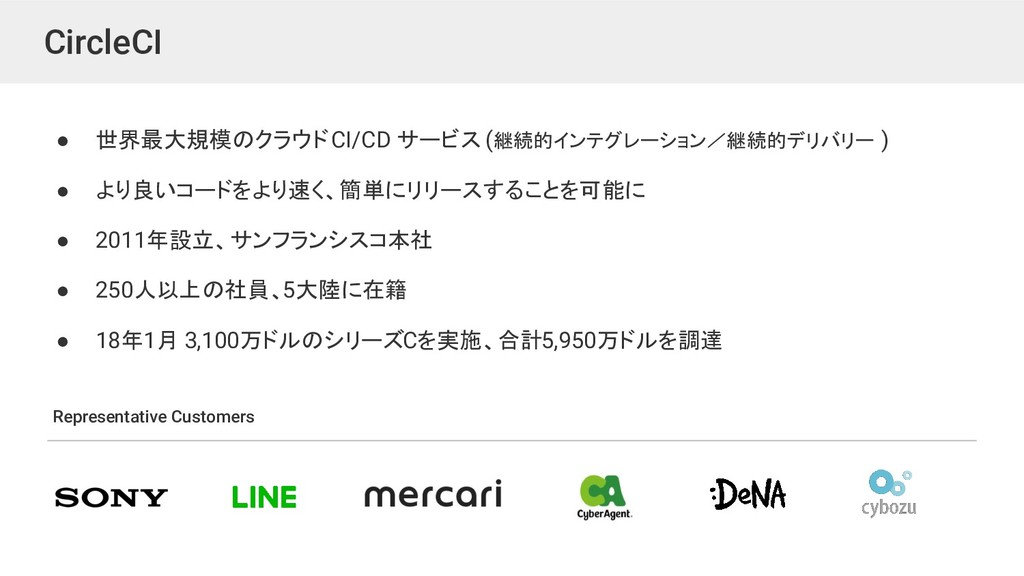 CircleCI ● 世界最大規模のクラウド CI/CD サービス (継続的インテグレーション...