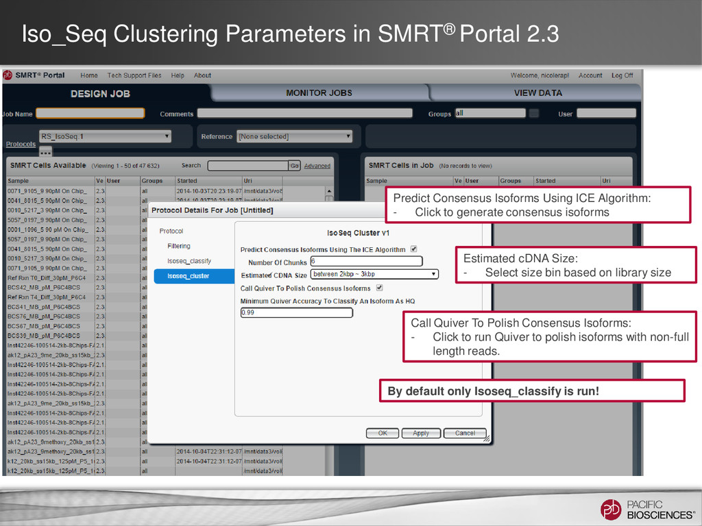 Iso_Seq Clustering Parameters in SMRT® Portal 2...
