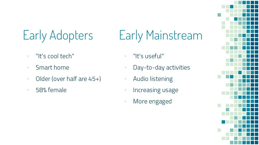 "Early Adopters Early Mainstream ▪ ""It's cool te..."