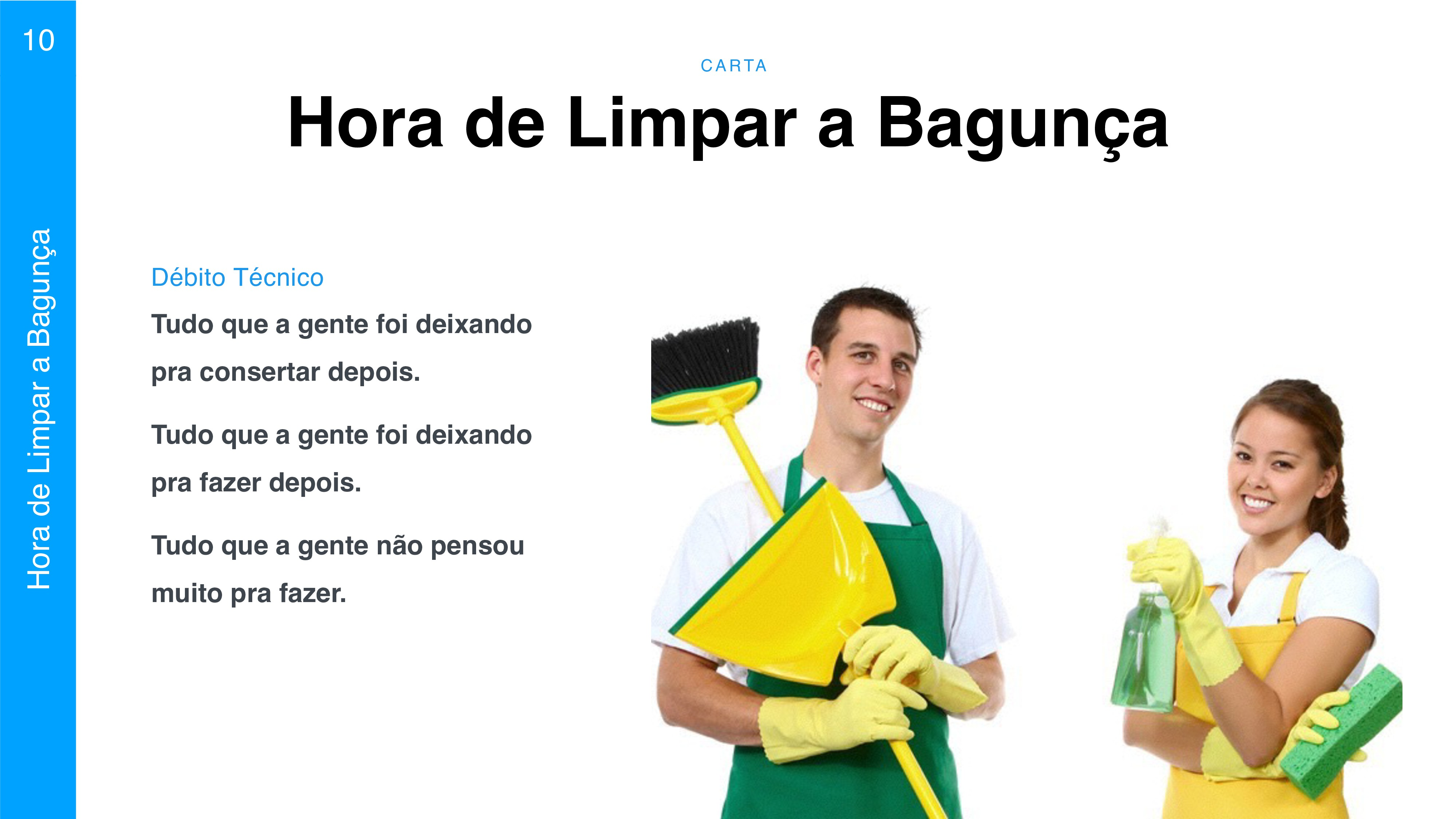 C A RTA 10 Hora de Limpar a Bagunça Hora de Lim...