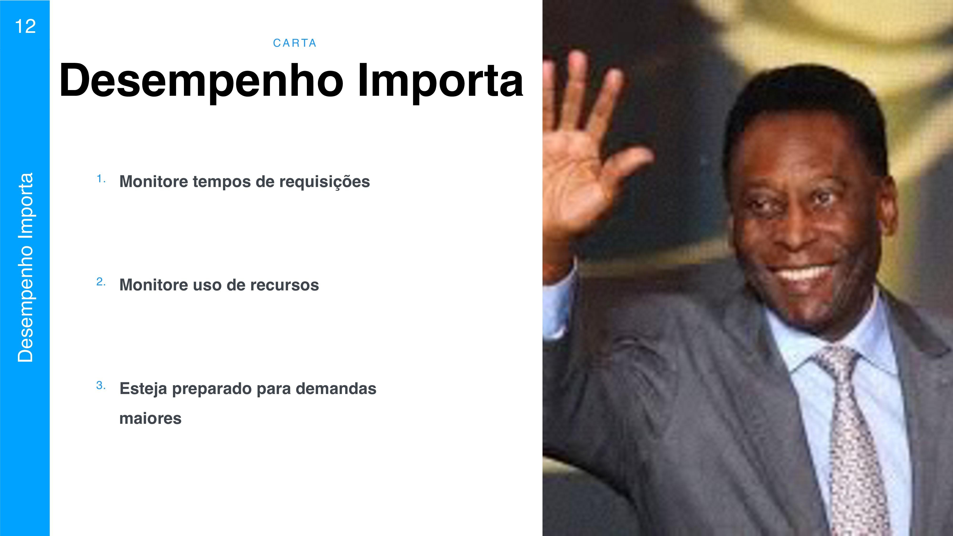 C A RTA 12 Desempenho Importa Desempenho Import...