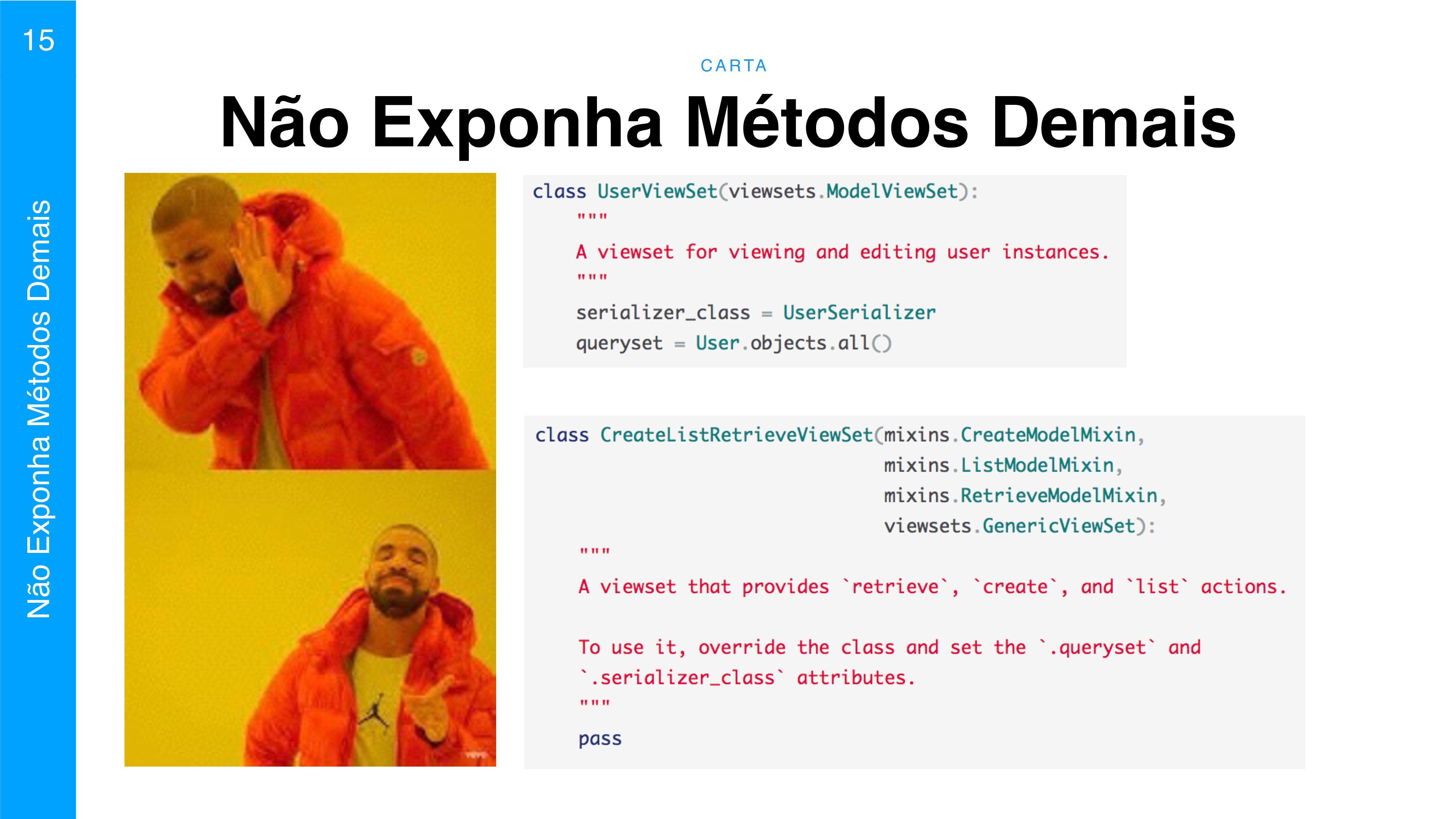 C A RTA 15 Não Exponha Métodos Demais Não Expon...