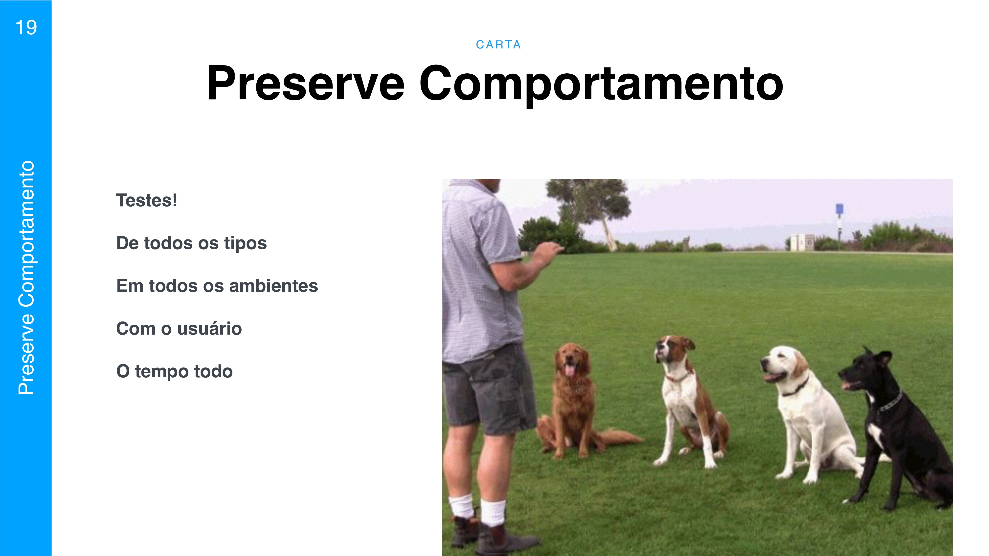 C A RTA 19 Preserve Comportamento Preserve Comp...