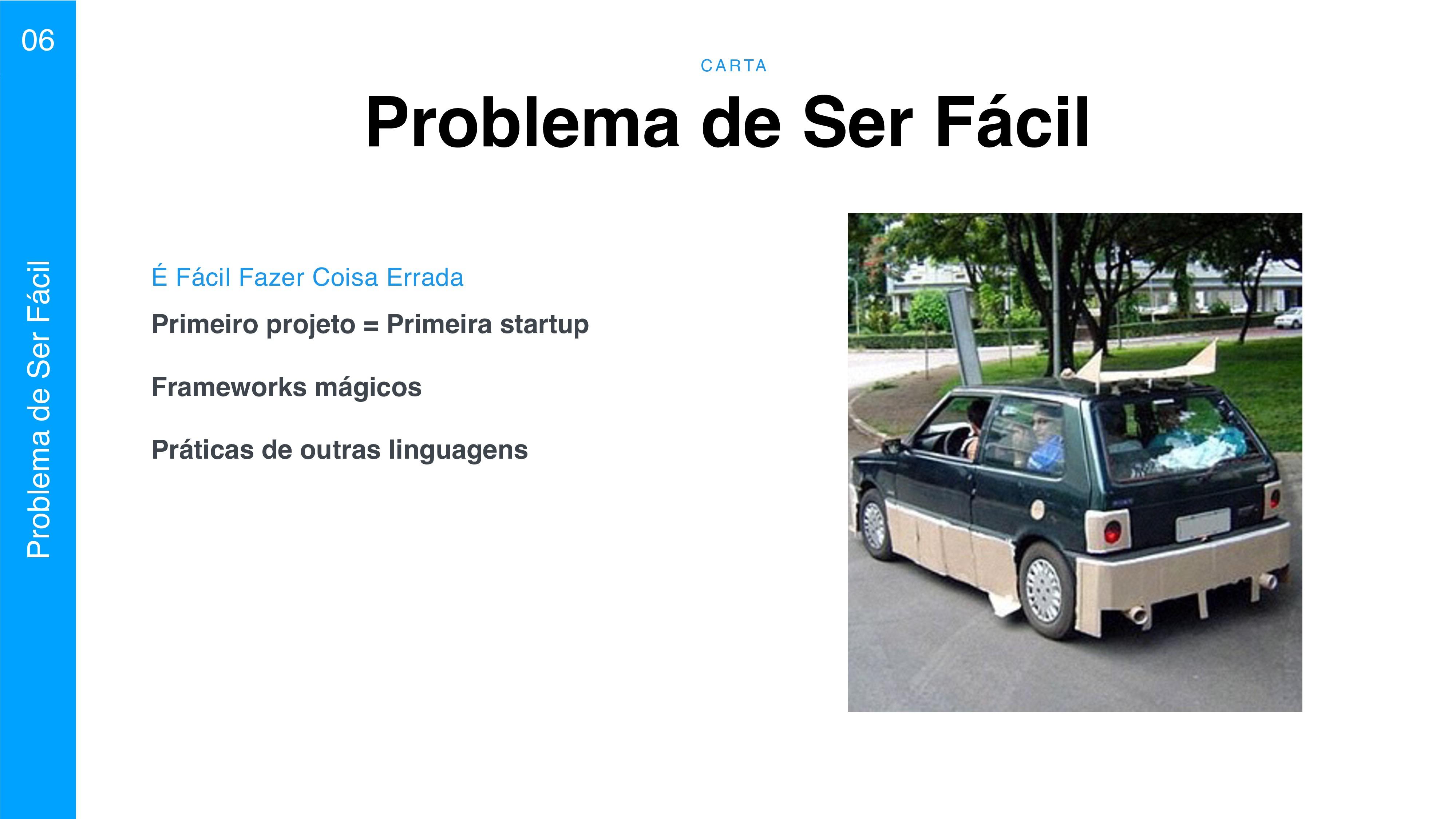 C A RTA 06 Problema de Ser Fácil Primeiro proje...