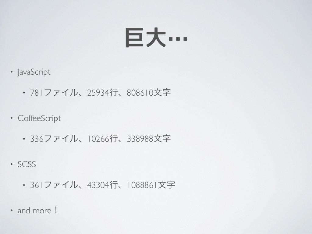 巨大… • JavaScript • 781ϑΝΠϧɺ25934ߦɺ808610จ • Co...