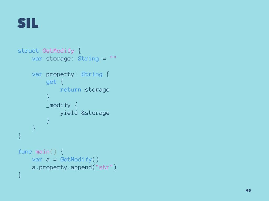 "SIL struct GetModify { var storage: String = """"..."