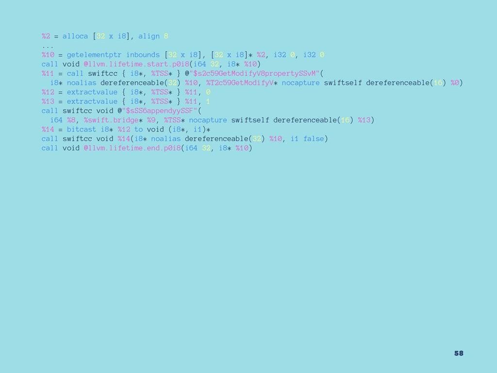 %2 = alloca [32 x i8], align 8 ... %10 = getele...