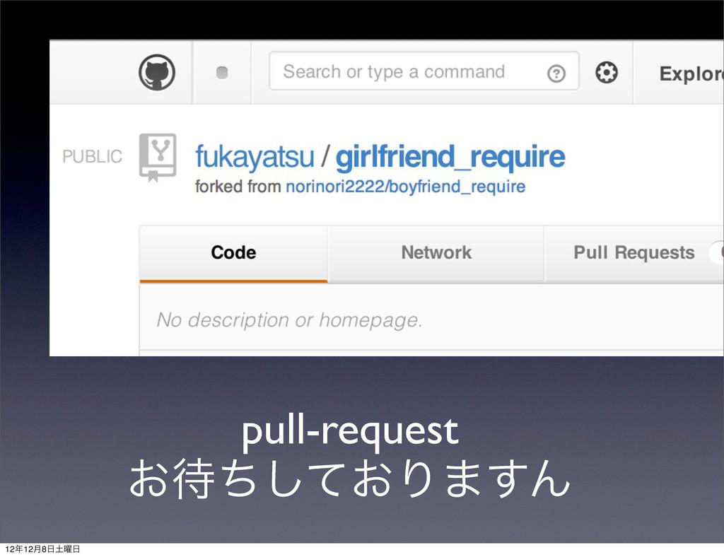pull-request ͓͓ͪͯ͠Γ·͢Μ 1212݄8༵