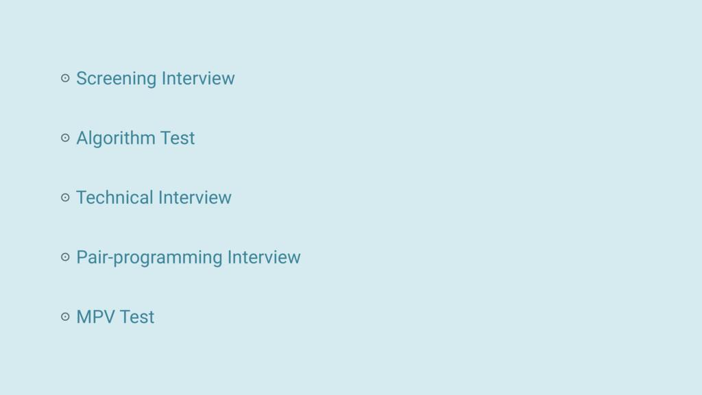 Screening Interview MPV Test Algorithm Test Tec...