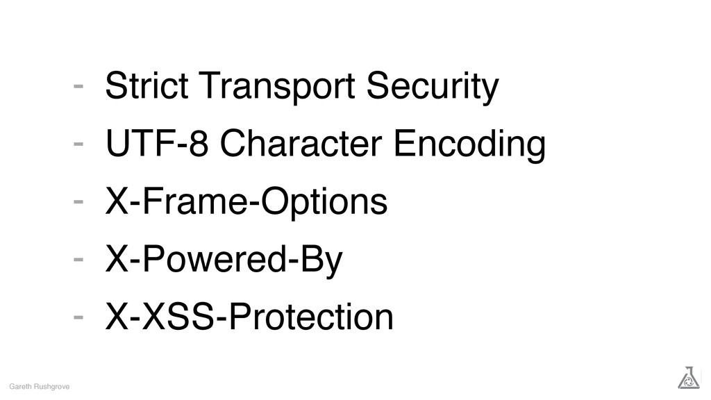Strict Transport Security UTF-8 Character Encod...
