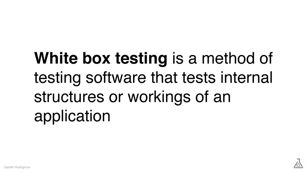 White box testing is a method of testing softwa...