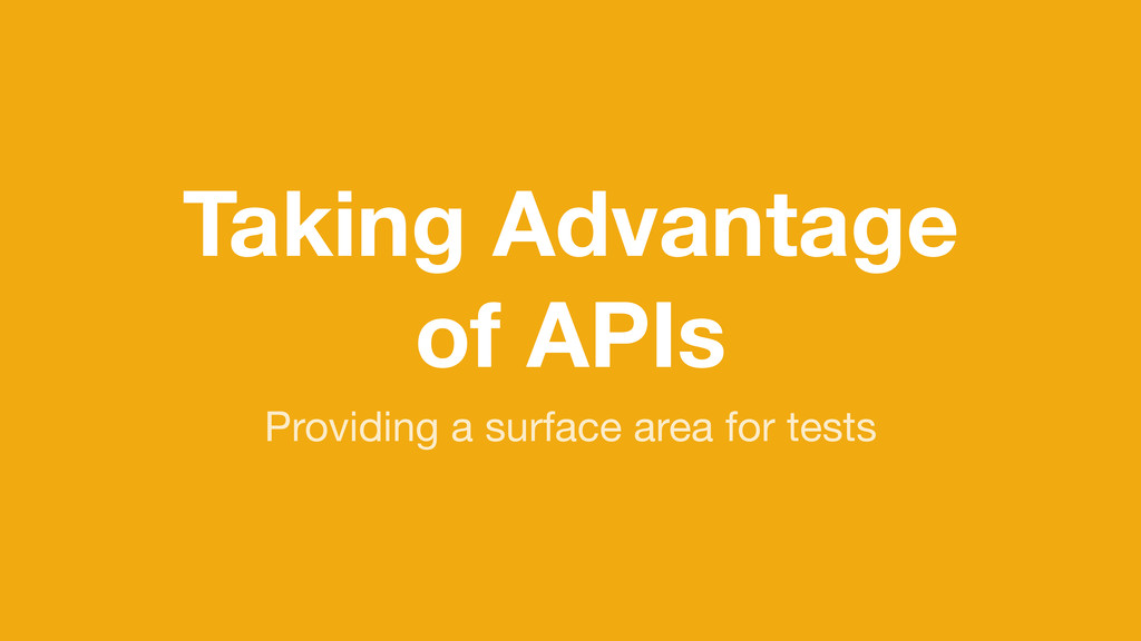Taking Advantage of APIs Providing a surface ar...