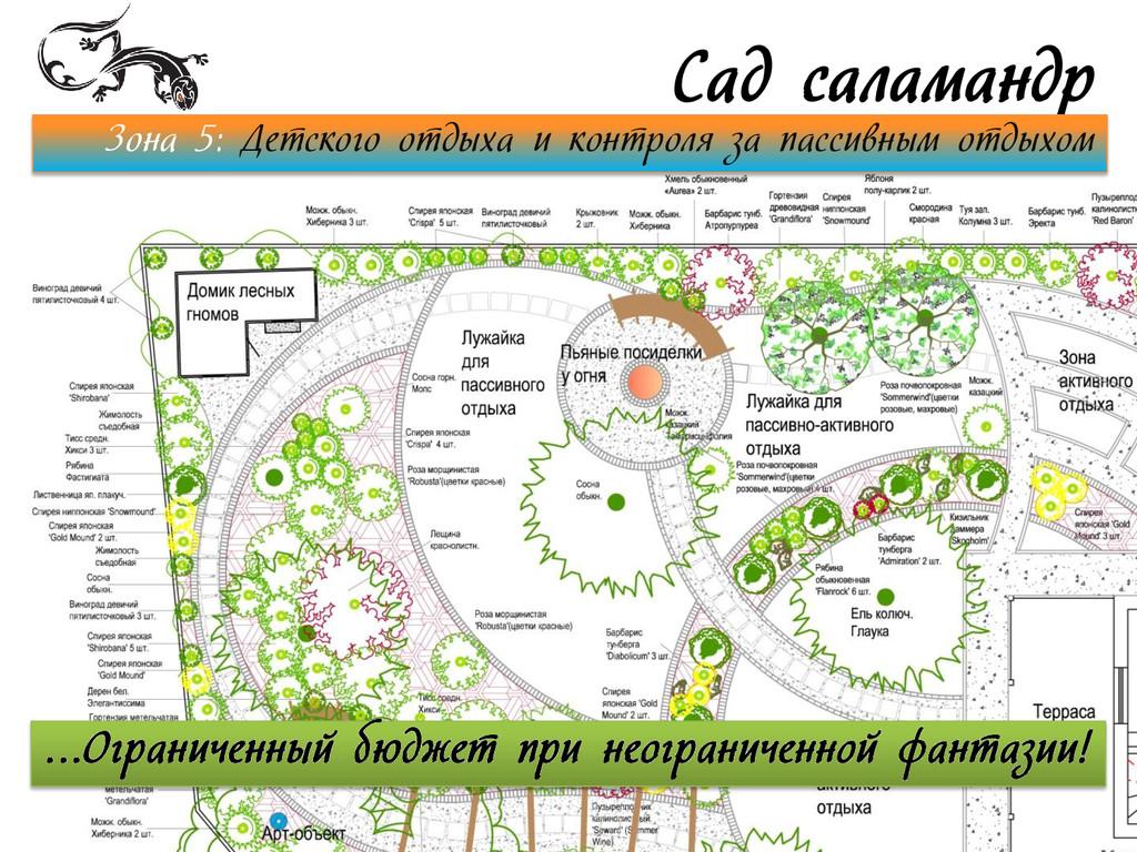 Сад саламандр Зона 5: Детского отдыха и контрол...