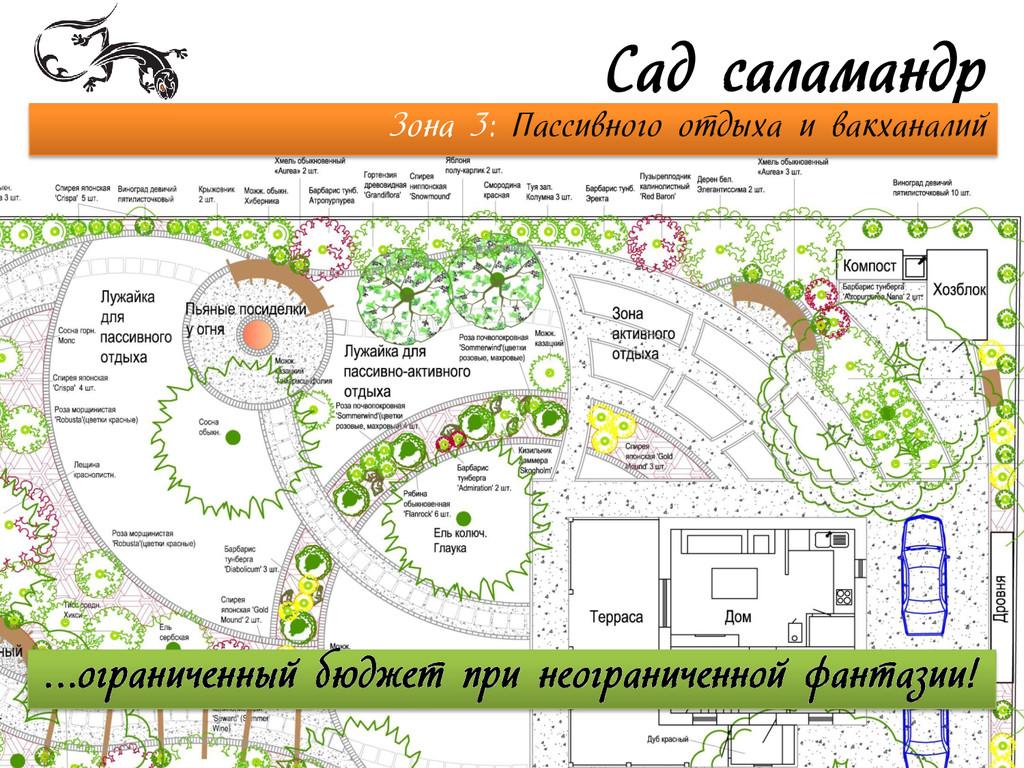 Сад саламандр Зона 3: Пассивного отдыха и вакха...