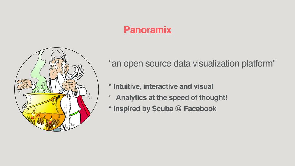"""""""an open source data visualization platform"""" * ..."""