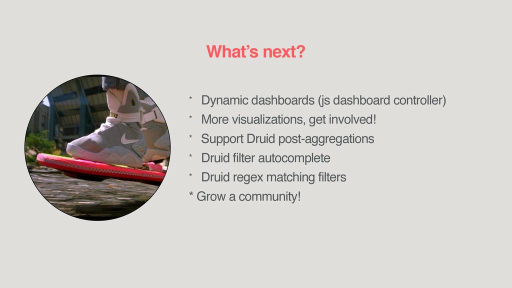 * Dynamic dashboards (js dashboard controller) ...